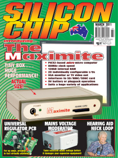 March 2011 Silicon Chip Online